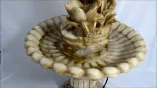 fonte agua bambu mulher c/ jarro