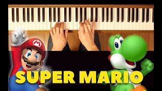 Underwater Background Music (New Super Mario Bros. Wii) [Easy-Intermediate Piano Tutorial