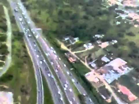 Helicopter flip over Durban, KZN, South Africa