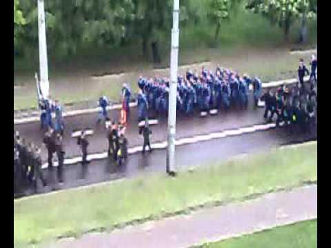 Ukraine,city Chernigov,rehearsal of the parade 9 May
