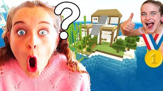 WHICH KID BUILDS THE BEST ISLAND HOUSE in Minecraft w/ The Norris Nuts
