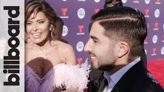 Joss Favela Discusses New Song with Becky G & Gets Photobombed by Gloria Trevi | Latin AMAs 2018