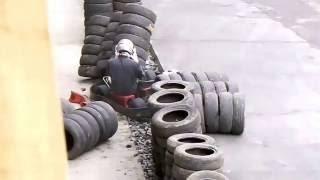 Acidente Kartodromo de Joinville - Acidente curva principal Piloto Rafa/Usitech