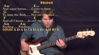 Superheroes (Rocky Horror) Bass Guitar Cover Lesson with Chords/Lyrics