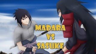 Madara vs Sasuke Full Fight [NEW MOVES] - Naruto Shippuden Storm Revolution