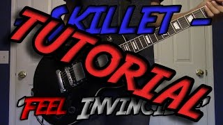 (TUTORIAL) 'Feel Invincible' - Skillet (w/ Solo + TABs)