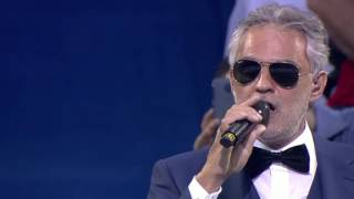 Andrea Bocelli UEFA Champions League final opening ceremony 2016. Cortesía UEFA