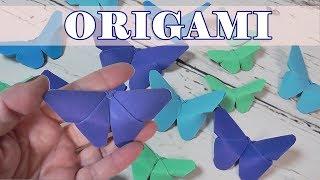 Como hacer mariposas de papel fáciles. Origami Papiroflexia