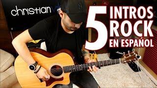 5 Intros Rock en Español | Guitarra Acústica | Cover Christianvib