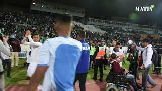 Les joueurs et les supporters du Raja fêtent la qualification en finale de la Coupe de la CAF