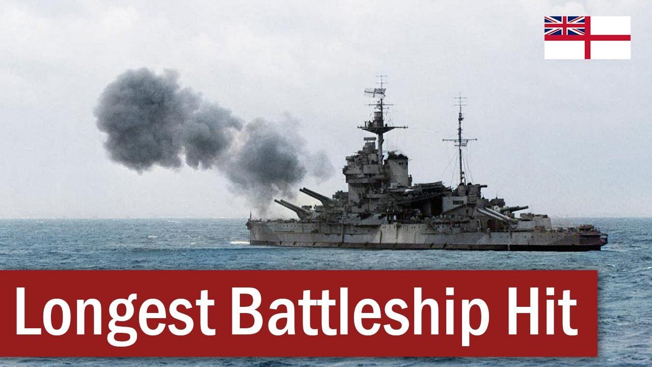 The Longest Battleship-on-Battleship Hit | July 1940