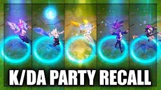 All K/DA Skins Party Recall KDA Ahri, KDA Akali, KDA Evelynn, KDA KaiSa (League of Legends)