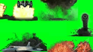 Green Screen Top Blast/Crash Explosion Effects | Plane, Bomb etc. | Hollywood Vfx HD | Green Screen