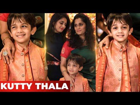 OMG 😍:Thala Ajith Son Aadvik's Cute Candid's | Shalini Ajithkumar | Valimai | Tamil Cinema News