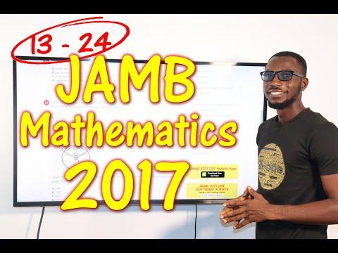 JAMB CBT Mathematics 2017 Past Questions 13 - 24
