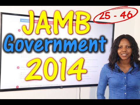 JAMB CBT Government 2014 Past Questions 25 - 46