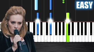 Adele - When We Were Young - EASY Piano Tutorial by PlutaX - Synthesia