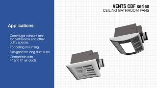 VENTS CBF series - domestic centrifugal ceiling fans
