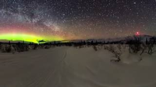 360 Video of Aurora Borealis and Milkyway in Glacierview, AK