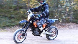 KTM 450 EXC R - Supermoto (Akrapovic Slip-On Sounds & First Ride)