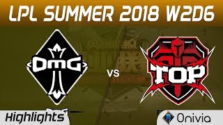 OMG vs TOP Highlights Game 1 LPL Summer 2018 W2D6 Oh My God vs Topsports Gaming by Onivia