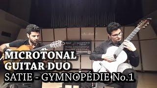 Gymnopédie No. 1 - Microtonal Guitar Duo - Live in Miami