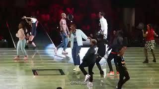 Chris Brown and ayo E teo dancing mask off