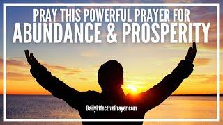 Prayer For Abundance and Prosperity - Most Powerful 3 Min Prayer