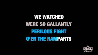 """Star Spangled Banner in the Style of """"Whitney Houston"""" karaoke video with lyrics (no lead vocal)"""