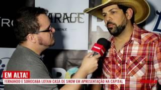 Fernando e Sorocaba apresentam show repleto de ilusionismo e efeitos especiais