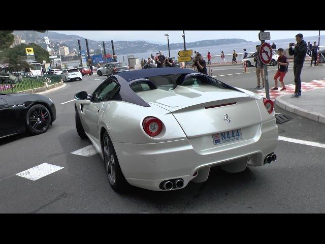 Ultra RARE Ferrari 599 SA Aperta Sounds in Monaco!!