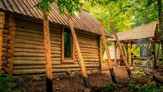 Off Grid Log Home Addition   Tiny House Renovation using Hand Tools