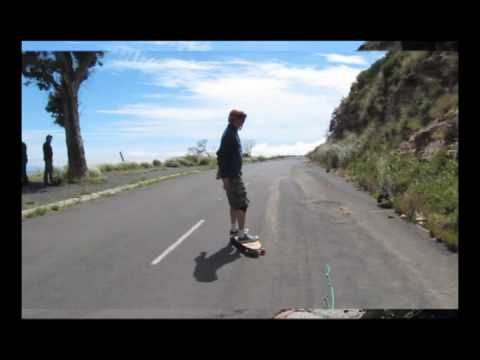 Skateboarding under Cape Town's Table Mountain