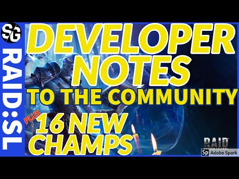 RAID SHADOW LEGENDS | DEV RESPONSE TO THE COMMUNITY + 16 NEW CHAMPS