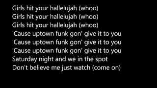 Uptown Funk by Mark Ronson Ft. Bruno Mars Lyrics Video