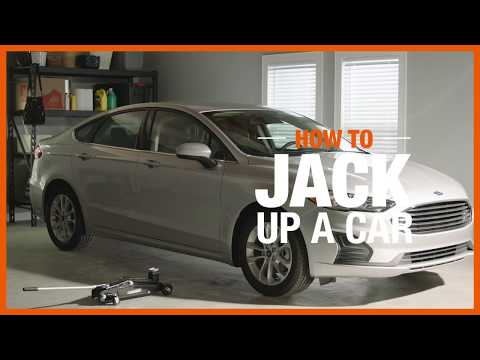 How to jack up a car video.