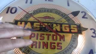 Hastings Piston Rings Clock