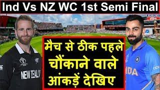 Ind Vs NZ WC 1st Semifinal: देखिए दोनों टीमों के बीच क्या कहते हैं आंकड़ें | Headlines India