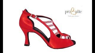 Zapatos baile rojo y strass - www.probaile.com