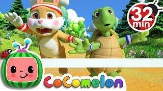 The Tortoise and the Hare | +More Nursery Rhymes & Kids Songs - Cocomelon (ABCkidTV) width=