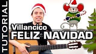 Villancico  Feliz Navidad en guitarra tutorial con acordes completo