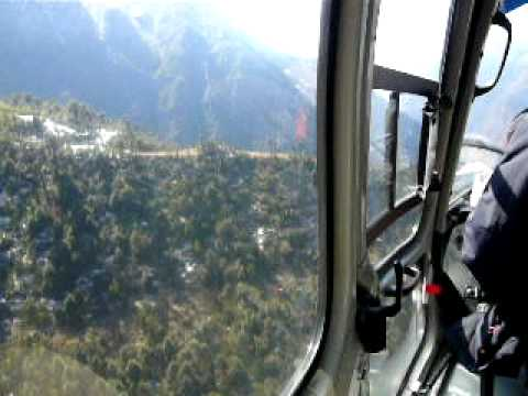 Lukla Airport – Crazy Army Helicopter Take off