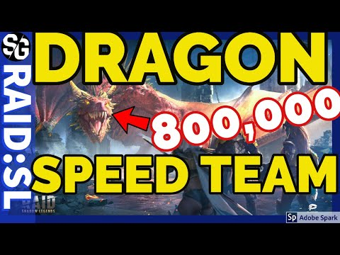 [RAID SHADOW LEGENDS] DRAGONS 20 SPEED TEAMS