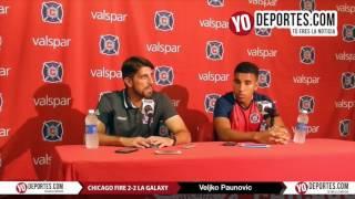 ¿Tuvo un plan para cuidar a Giovani dos Santos? Veljko Paunovic Chicago Fire 2-2 LA Galaxy