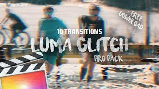 Luma Glitch [3D] Transition Pack // FREE DOWNLOAD | Final Cut Pro X