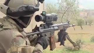 Turkish Army Operation in Afrin residential quarters