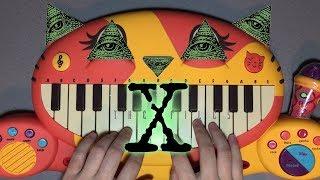 The X-Files Theme Song - Illuminati Confirmed On Cat Piano