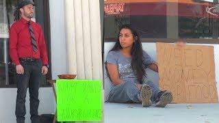 Rich Man VS Homeless Girl! (Social Experiment)
