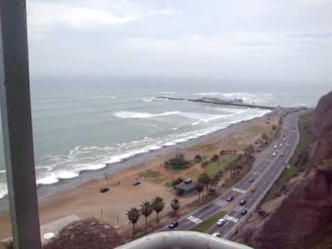 Oceanfront coastline, Lima, Peru