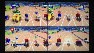 Mario & Sonic at the London 2012 Olympic Games (Wii): 100m Sprint (4 Players)